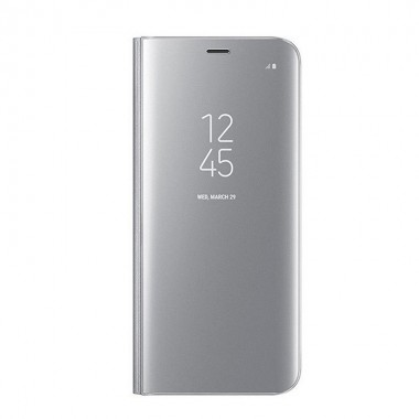 Husa Flip Stand Clear View, Samsung Galaxy S9 Plus, Silver