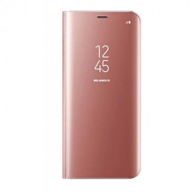 Husa Flip Stand Clear View, Samsung Galaxy S9, Rose